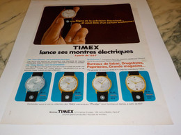 ANCIENNE PUBLICITE MONTRE ELECTRIQUE TIMEX 1969 - Autres