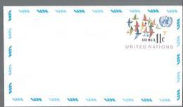 """NATIONS-UNIES NY : FDC Y&T PA N° 16  """" Vol D'oiseaux """" Enveloppes Petit Et Grand Format - New York -  VN Hauptquartier"""