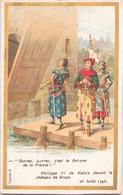 """Image Publicitaire Chocolat Morin """" Philippe IV De Valois Devant Le Château De Broye """" 1346 - Other Collections"""