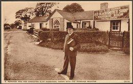 R Rennison With Marriage Registers, Gretna Green, Dumfriesshire, C.1950 - Photochrom Postcard - Dumfriesshire