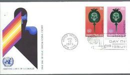 "NATIONS-UNIES NY : FDC Y&T N° 229-230 Du 13/4/1973 "" Abus De Drogue "" - New York -  VN Hauptquartier"