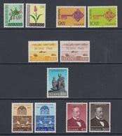 1968 ** Islande (sans Charn., MNH, Postfrish) Complete Yv 370/80  Mi 415/25  FA 452/62  (11v) - Island