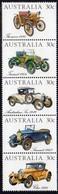 Australia 1984 Veteran & Vintage Cars Strip Of 5, MNH, SG 905/9 - 1980-89 Elizabeth II
