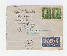 Sur Enveloppe En Recommandé Trois Timbres République D'Haïti. CAD Jérémie Haïti 1936. (707) - Haïti