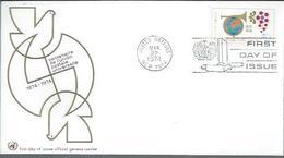 """NATIONS-UNIES NY : FDC Y&T N° 237-238 Du 22/3/1974 """" Centenaire De L'U.P.U. """" - New York -  VN Hauptquartier"""