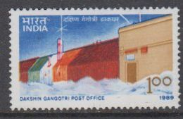 India 1989 Antarctica / Dakshin Gangotri Post Office 1v ** Mnh (40850D) - Unused Stamps