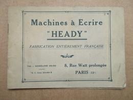 """Machines à écrire """"Heady"""" / Mode D'emploi - Autres"""