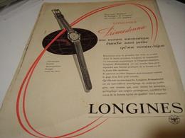 PUBLICITE AFFICHE MONTRE LONGINES PRIMADONNA 1956 - Bijoux & Horlogerie