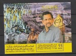 Brunei 2001 Scott 569 S/SSultan Sheet NH - Brunei (1984-...)