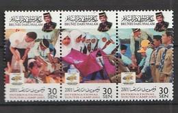 Brunei 2001 Scott 570 Youth Camp Strip Of 3 NH - Brunei (1984-...)