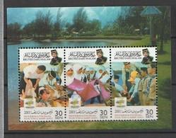 Brunei 2001 Scott 570d S/S Youth Camp Sheet NH - Brunei (1984-...)