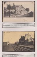 GARES BELGES. Ensemble 118 Cartes Postales, époques Div - Postcards