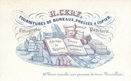 CARTES PORCELAINE. Ensemble 19 Cartes Porcelaine De Mai - Trade Cards