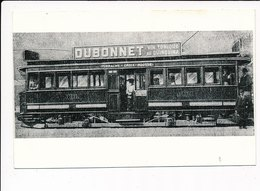 """LYON : """"photo Environ 1950 Format Et Papier CPA"""" Tramway La Croix Rousse Dubonnet Vin Tonique - Tres Bon Etat - Autres"""
