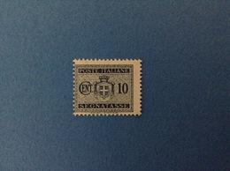 1945 LUOGOTENENZA FRANCOBOLLO NUOVO STAMP NEW MNH** 10 CENT SEGNATASSE - Segnatasse