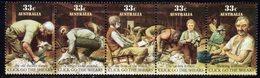 Australia 1986 Folklore 'Click Go The Shears' Strip Of 5, MNH, SG 1014/8 - 1980-89 Elizabeth II