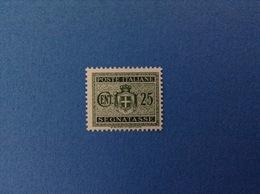 1945 LUOGOTENENZA FRANCOBOLLO NUOVO STAMP NEW MNH** 25 CENT SEGNATASSE - Segnatasse