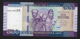 LIBERIA : 500 Dollars - 2016 - UNC - Liberia