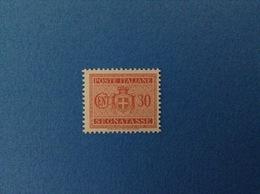 1945 LUOGOTENENZA FRANCOBOLLO NUOVO STAMP NEW MNH** 30 CENT SEGNATASSE - 1944-46 Lieutenance & Humbert II