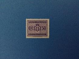 1945 LUOGOTENENZA FRANCOBOLLO NUOVO STAMP NEW MNH** 50 CENT SEGNATASSE - 1944-46 Lieutenance & Humbert II