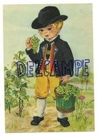 Petit Garçon Qui Récolte Des Raisins. Vigne - Vignes