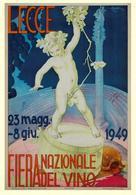 Italian Exposition Postcard Lecce Fiera Del Vino 1949 - Reproduction - Pubblicitari