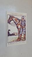 """ANTIQUE POSTCARD SOCIETE FRANÇAISE DE SECOURS AUX BLESSES MILITAIRES SIGNED BRUYER RED CROSS """" HUSSARDS """" WWI - Guerre 1914-18"""