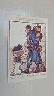 """ANTIQUE POSTCARD SOCIETE FRANÇAISE DE SECOURS AUX BLESSES MILITAIRES SIGNED BRUYER RED CROSS """" POILUPOLIS """" WWI - Guerre 1914-18"""