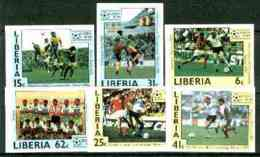 Liberia 1985 Football World Cup Set Of 6 Imperf From Limited Printing,  U/m SG 1605-10 FOOTBALL  SPORT - Liberia