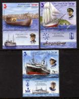 Israel 2012 Ships & Seamanship Set Of 3 With Tabs  U/m - Israel