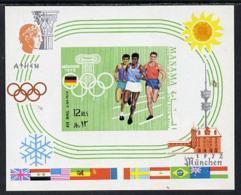Manama 1970 Olympics Imperf M/sheet  U/m, Mi BL 88B SPORT     RUNNING    OLYMPICS     FLAGS - Bahrain (1965-...)