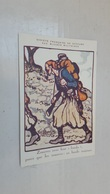 """ANTIQUE POSTCARD SOCIETE FRANÇAISE DE SECOURS AUX BLESSES MILITAIRES SIGNED BRUYER RED CROSS """" ZOUAVES """" WWI - Guerre 1914-18"""