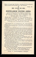 ZUSTER INDE WERELD  LUDWINA VERSCHEURE  ICHTEGEM 1879   1945 - Avvisi Di Necrologio