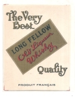 étiquette - The Very Best Long Fellow Old Liqueur WISKY - - Whisky