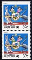 Australia 1988 Living Together Definitives, 39c Booklet Pair, MNH, SG 1121ba - 1980-89 Elizabeth II