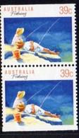 Australia 1989 Sports Definitives, 39c Fishing Booklet Pair, MNH, SG 1179a - 1980-89 Elizabeth II
