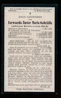 ZUSTER INDE WERELD  BERTHA BALS  1904 KORTEMARK 1927 - Avvisi Di Necrologio