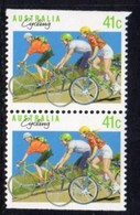 Australia 1989 Sports Definitives, 41c Cycling Booklet Pair, MNH, SG 1180a - 1980-89 Elizabeth II