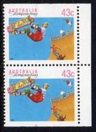 Australia 1989 Sports Definitives, 43c Skateboarding Booklet Pair, MNH, SG 1181a - 1980-89 Elizabeth II