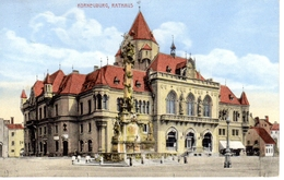 KORNEUBURG, Rathaus, Verlag Popper Wien,seltener Kastenstempel ! 14.11.1912 - Klosterneuburg