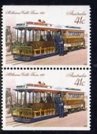 Australia 1989 Historic Trains 41c Booklet Pair, Perf. 14½, MNH, SG 1222a - 1980-89 Elizabeth II