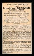ZUSTER  IN DE WERELD  MARIE DEVRIENDT  PITTEM 1870   ROESELARE 1946 - Décès