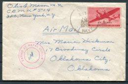 1944 Iceland US Navy Censor Cover - Oklahoma City, USA - 1918-1944 Administration Autonome