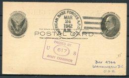 1942 Iceland USA Censor APO 810 Fieldpost Stationery Postcard. Sand Fishing Club Camp - 1918-1944 Administration Autonome