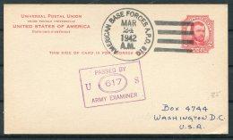 1942 Iceland USA Censor APO 810 Fieldpost Stationery Postcard. - 1918-1944 Administration Autonome