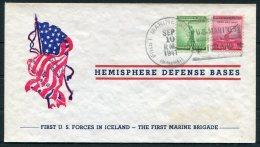 WW2 Iceland USA First Marine Brigade Illustrated Patriotic Cover - 1918-1944 Administration Autonome