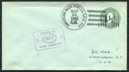 1942 Iceland USA APO 810 Fieldpost Censor Stationery Cover - 1918-1944 Administration Autonome