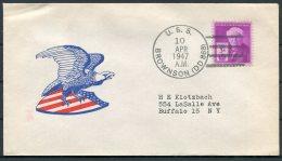1947 USA Operation High Jump, Byrd Polar Expedition Ship Cover. USS BROWNSON - Polar Ships & Icebreakers