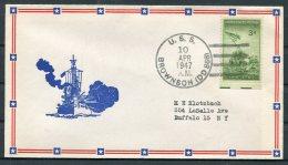 1947 USA Operation High Jump, Byrd Polar Expedition Ship Cover. USS BROWNSON. US Navy - Polar Ships & Icebreakers
