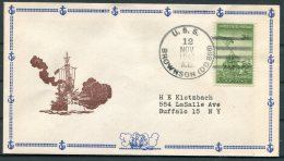 1946 USA Operation High Jump, Byrd Polar Expedition Ship Cover. USS BROWNSON. US Navy - Polar Ships & Icebreakers